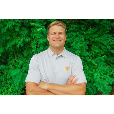 Tennessee Volunteer Traditions Vault Men's Interlock UT Micro Stripe Polo