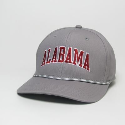 Alabama Legacy Men's Mid-Pro Arch Rope Adjustable Hat