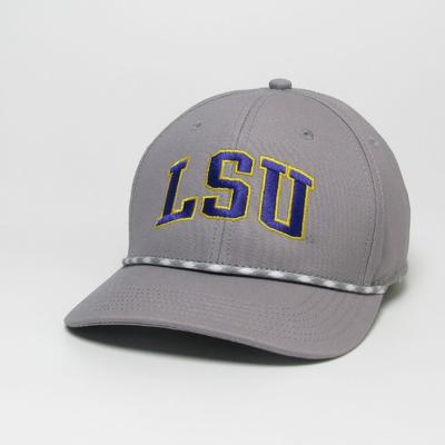 LSU Legacy Men's Mid-Pro Arch Rope Adjustable Hat
