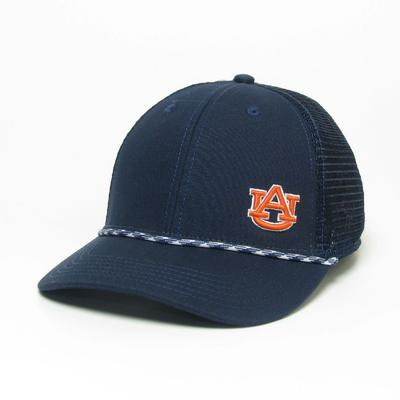 Auburn Legacy Men's Lo-Pro Left Hit Rope Trucker Adjustable Hat