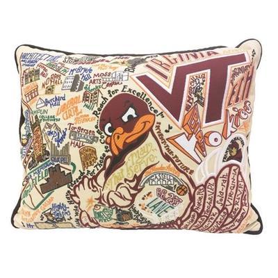 Virginia Tech Embroidered Pillow
