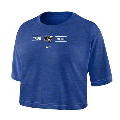 MTSU Nike Women's Dri-fit Cotton Crop Tee