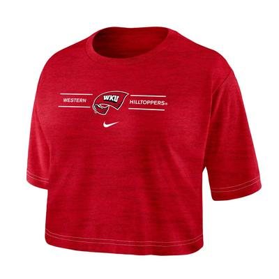 Western Kentucky Nike Women's Dri-fit Cotton Crop Tee