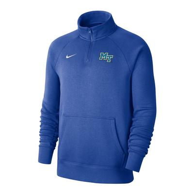 MTSU Nike Men's Club 1/4 Zip Pullover