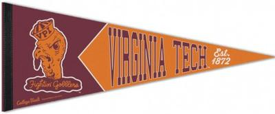 Virginia Tech Fighting Gobbler Logo Pennant