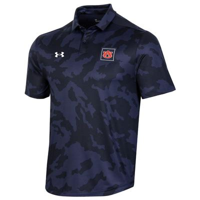 Auburn Under Armour Men's Athlete Camo Polo