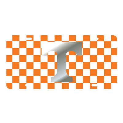 Tennessee License Plate Checkerboard With Silver T