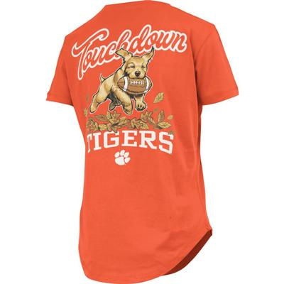 Clemson Pressbox Women's Rustler Curved Hem Short Sleeve Tee