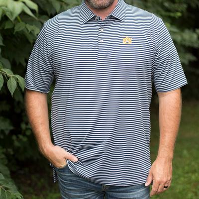 Auburn Men's Peter Millar Mills Stripe Jersey Polo