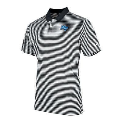 MTSU Nike Men's Victory Stripe Polo BLACK/WHITE