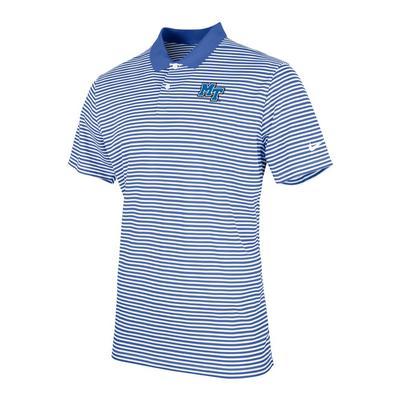 MTSU Nike Men's Victory Stripe Polo ROYAL/WHITE
