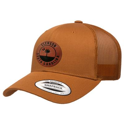 Clemson Uscape Faux Leather Seal Patch Trucker Adjustable Hat