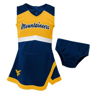 West Virginia Gen2 Girl's Cheer Dress with Bloomers