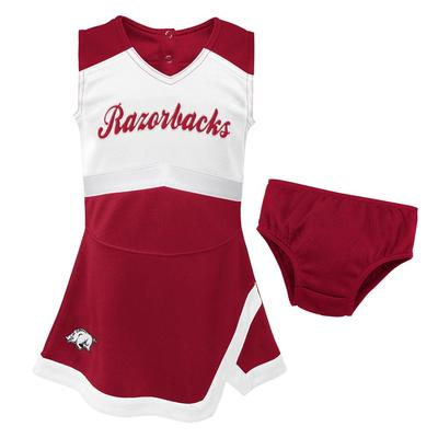Arkansas Gen2 Girl's Cheer Dress with Bloomers