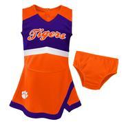 Clemson Gen2 Toddler Cheer Dress With Bloomers