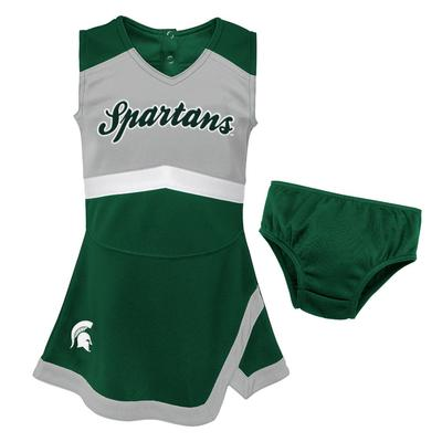 Michigan State Gen2 Toddler Cheer Dress with Bloomers