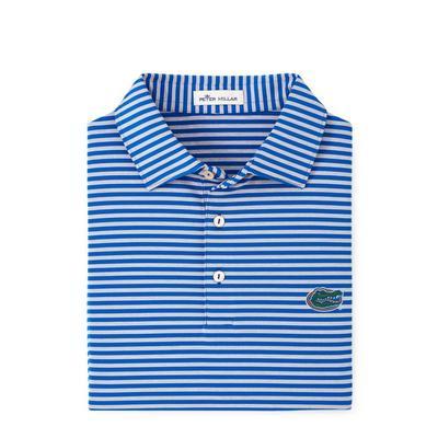 Florida Men's Peter Millar Mills Stripe Jersey Polo