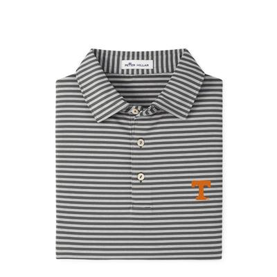 Tennessee Peter Millar Mills Stripe Jersey Polo