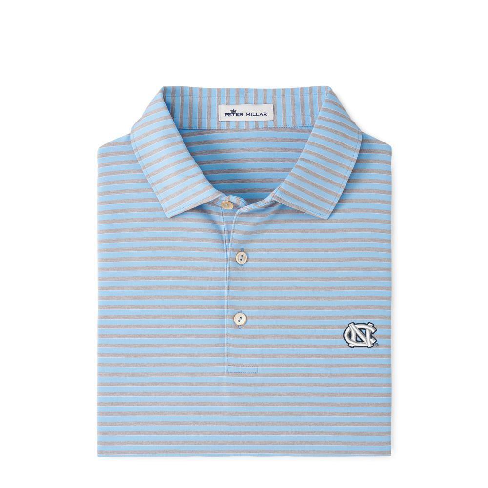 Unc Peter Millar Mills Stripe Jersey Polo