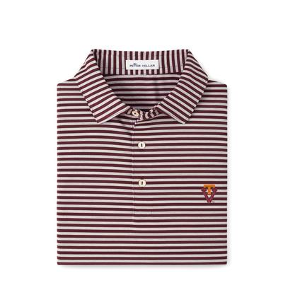 Virginia Tech Peter Millar Vault Mills Stripe Jersey Polo