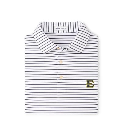 ETSU Peter Millar Wiggs Stripe Stretch Polo