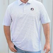Florida State Peter Millar Wiggs Stripe Stretch Polo