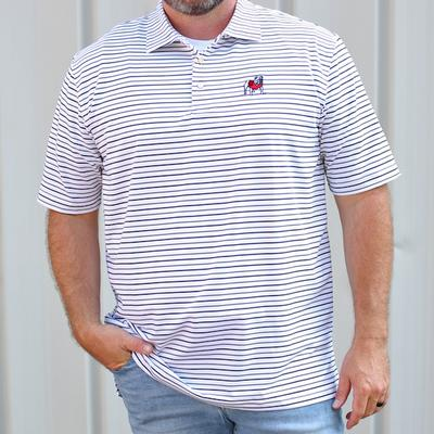 Georgia Peter Millar Wiggs Stripe Stretch Polo
