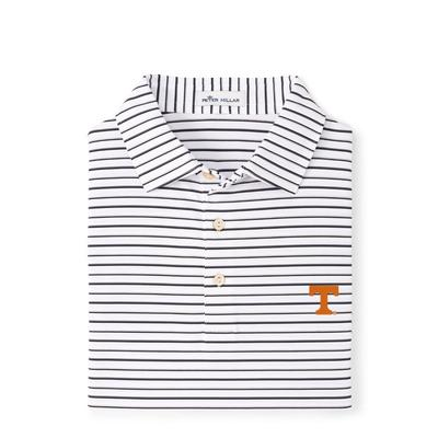 Tennessee Peter Millar Wiggs Stripe Stretch Polo
