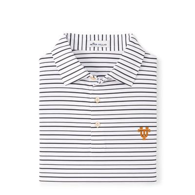 Tennessee Peter Millar Vault Wiggs Stripe Stretch Polo