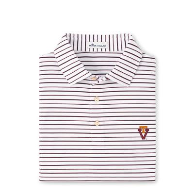 Virginia Tech Peter Millar Vault Wiggs Stripe Stretch Polo