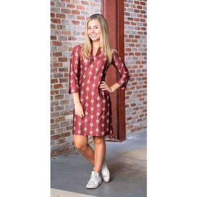 Garnet and Gold Katway Vero Print Dress