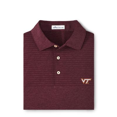 Virginia Tech Peter Millar Engineered Stripe Polo