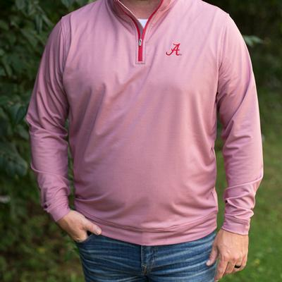 Alabama Peter Millar Perth Houndstooth Stretch 1/4 Zip