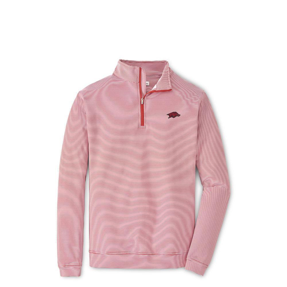 Arkansas Peter Millar Perth Stripe Stretch 1/4 Zip