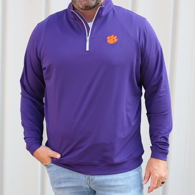 Clemson Peter Millar Perth Stretch 1/4 Zip