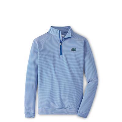 Florida Peter Millar Perth Stripe Stretch 1/4 Zip BLUE/WHITE