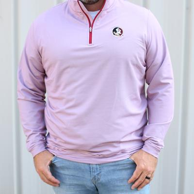 Florida State Peter Millar Perth Stripe Stretch 1/4 Zip