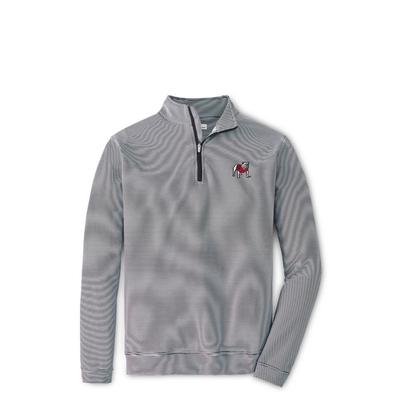 Georgia Peter Millar Perth Stripe Stretch 1/4 Zip