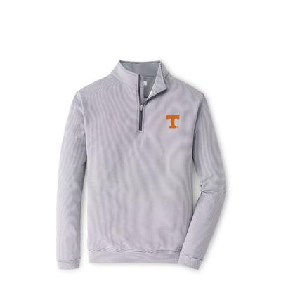 Tennessee Peter Millar Perth Stripe Stretch 1/4 Zip