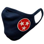Tennessee Adult Left Tri- Star Face Mask
