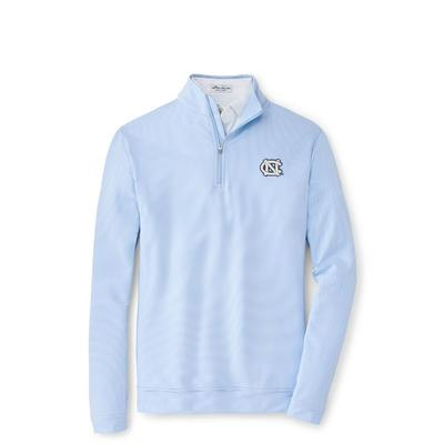 UNC Peter Millar Perth Stripe Stretch 1/4 Zip