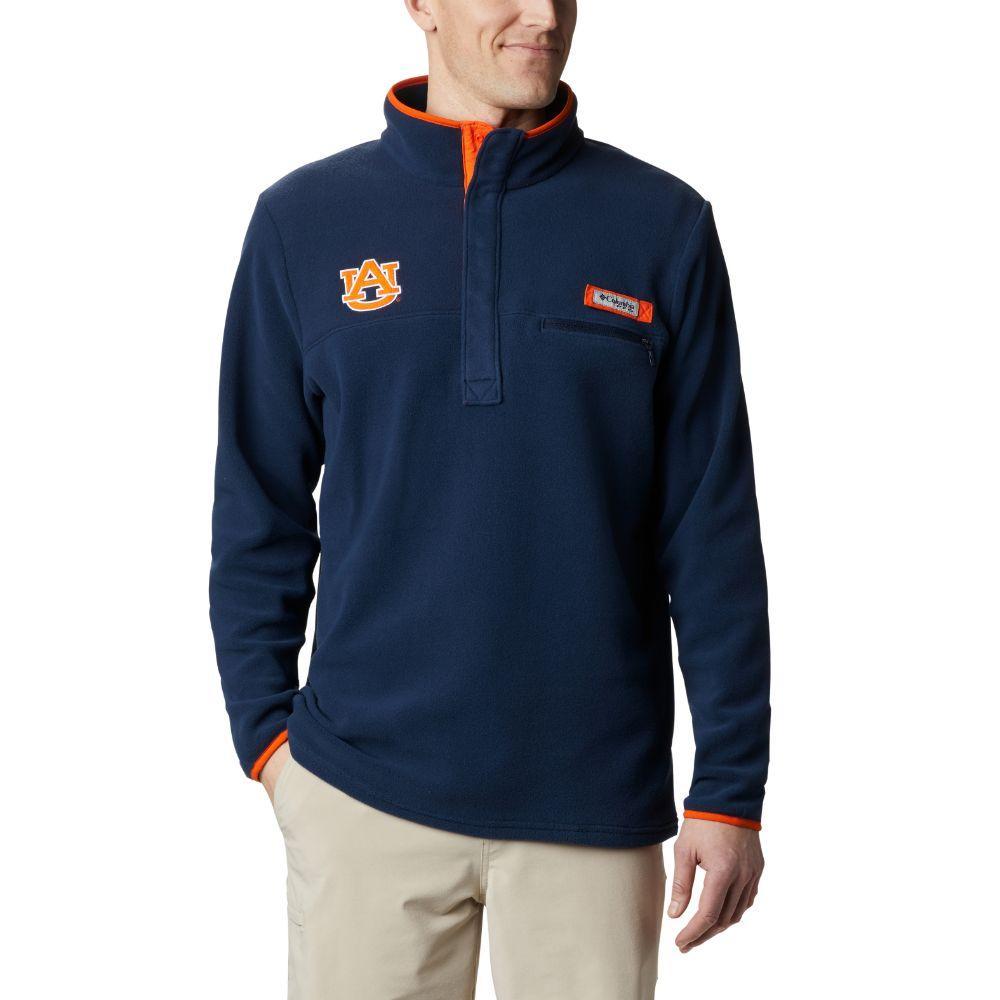 Auburn Columbia Harborside Fleece Pullover - Tall Sizing