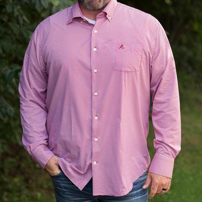 Alabama Peter Millar Gingham Stretch Woven Shirt