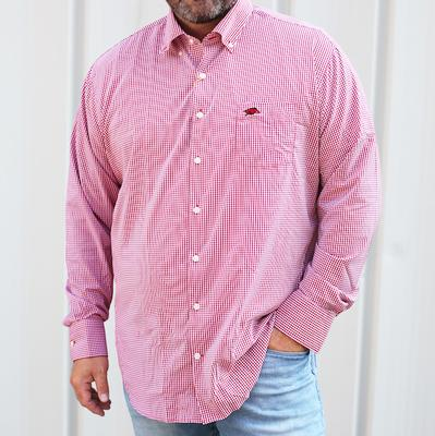 Arkansas Peter Millar Gingham Stretch Woven Shirt