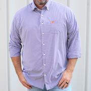 Clemson Peter Millar Gingham Stretch Woven Shirt