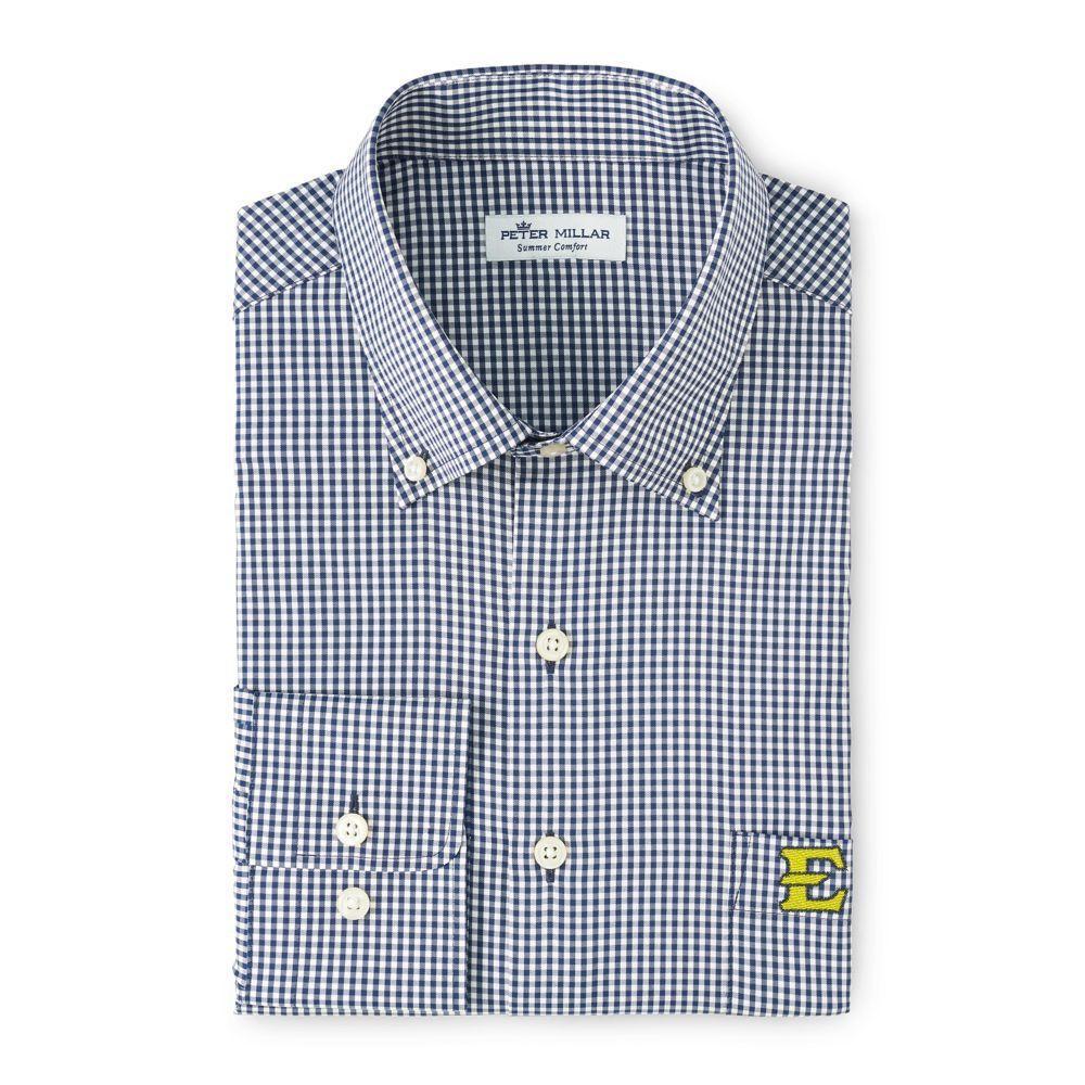 Etsu Peter Millar Gingham Stretch Woven Shirt