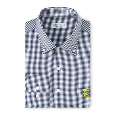 ETSU Peter Millar Gingham Stretch Woven Shirt