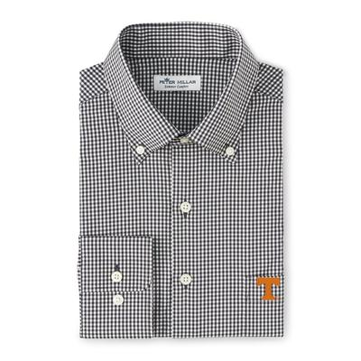 Tennessee Peter Millar Gingham Stretch Woven Shirt