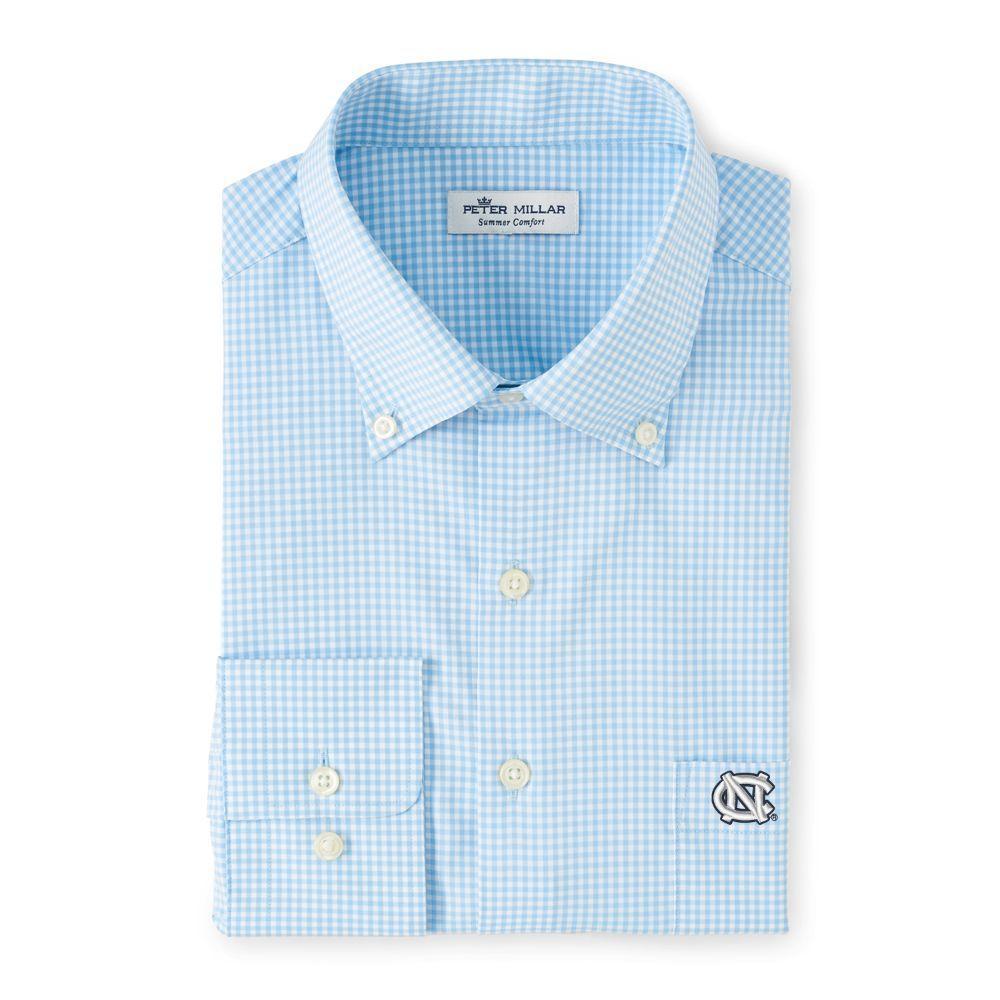 Unc Peter Millar Gingham Stretch Woven Shirt