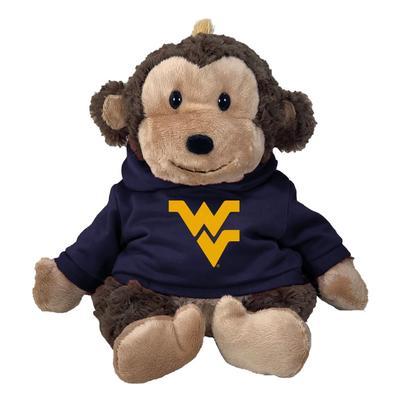 West Virginia 13 Inch Cuddle Buddie Plush Monkey
